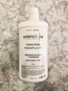 crema ácida post depilatoria perfect line